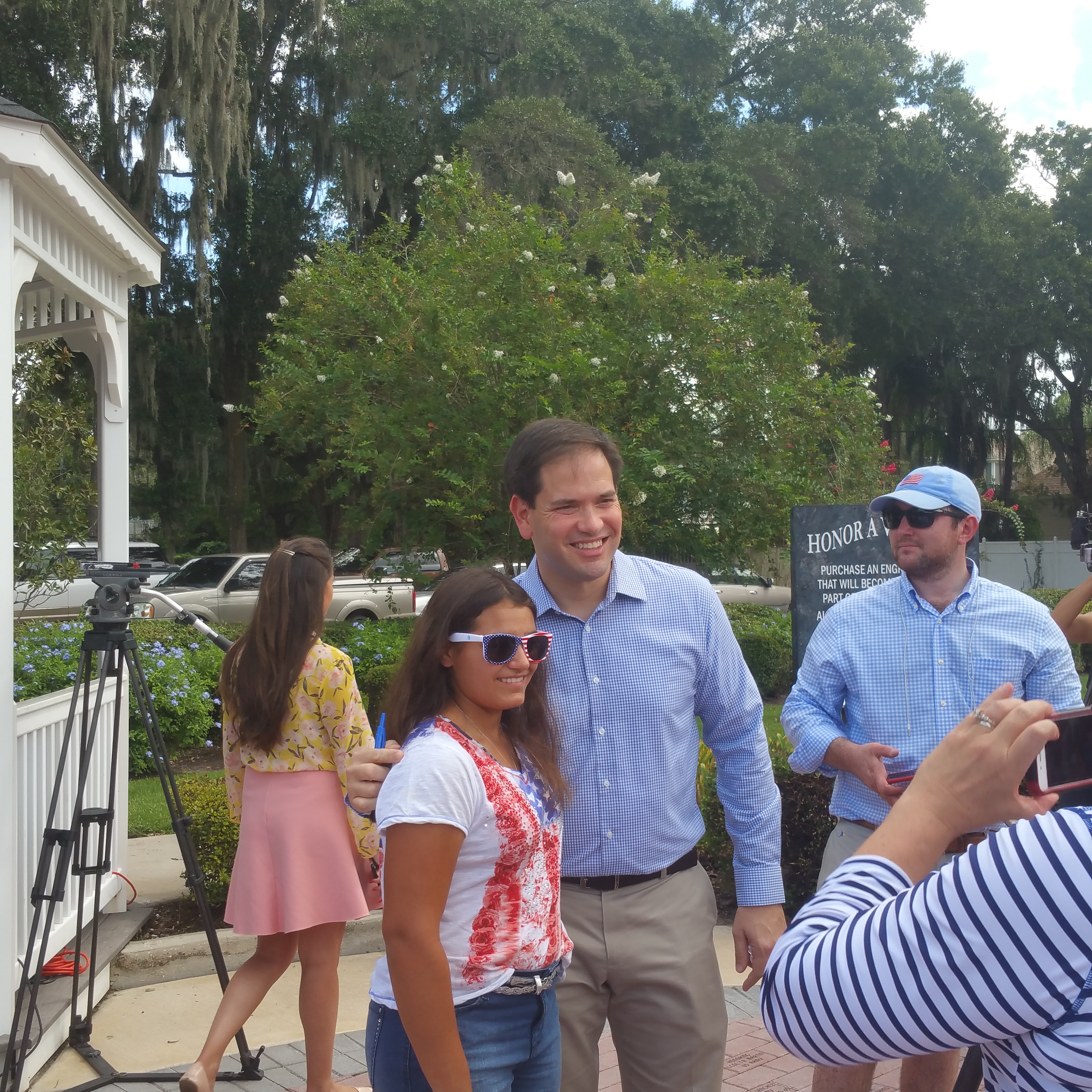 Rubio spent time taking pictures and connecting with supporters